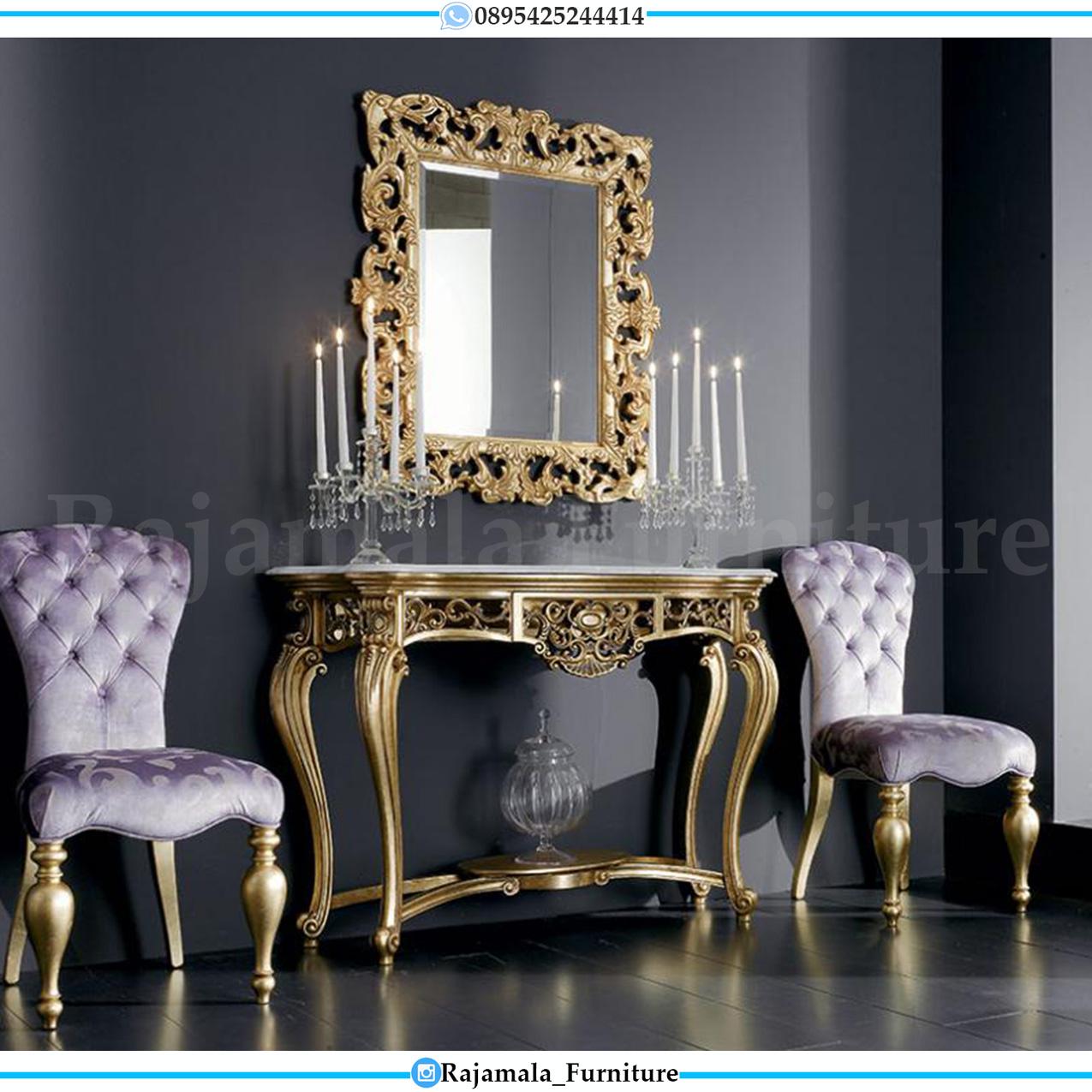 Jual Meja Konsul Mewah Luxury Carving Jepara New Style Italiansky RM-0282