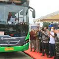 Menhub Launching Sistem Transportasi Massal Program BTS di Sumut