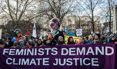 Feminists demand climate justice protest