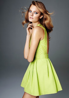 Lime Green Dress H&M Glamour Conscious Collection