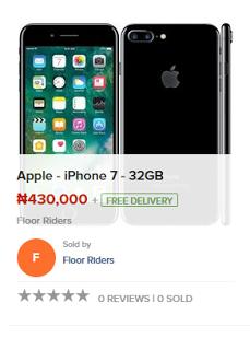 IPhone 7 price on konga