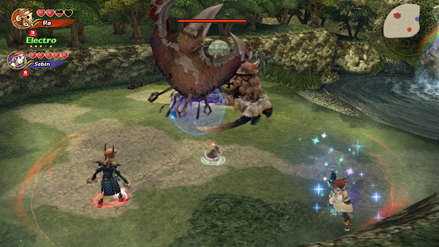 Combate multijugador contra cangrejo Final Fantasy Crystal Chronicles