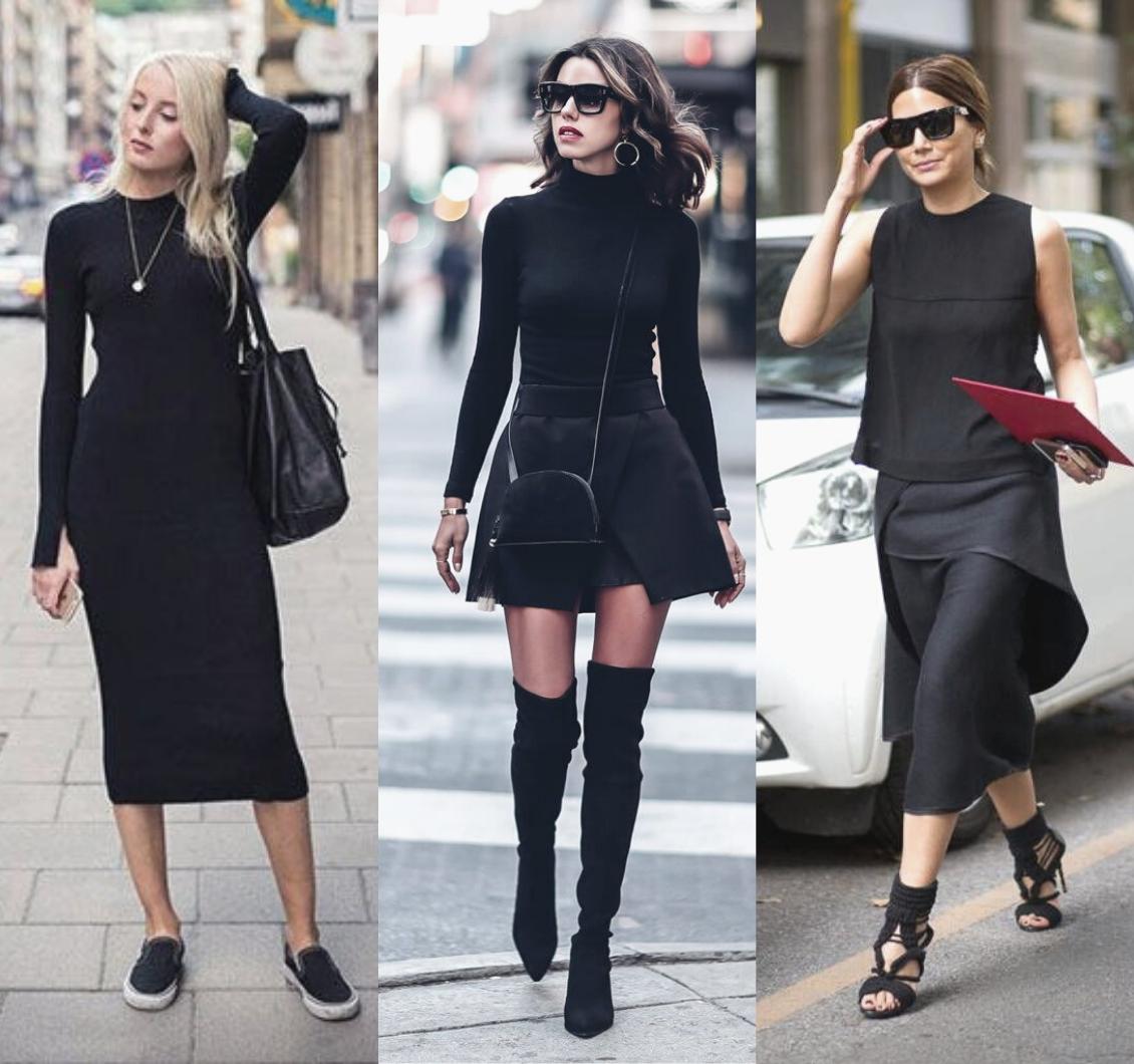 All black: como usar a tendência sem pesar no look
