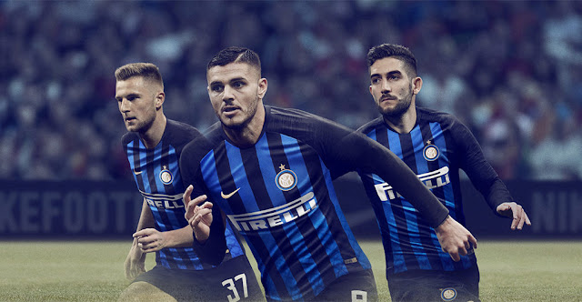 7fa9bed2538 Inter Milan 2018 19 Kit - Dream League Soccer Kits - Kuchalana