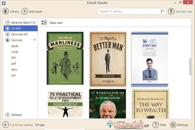 Icecream Ebook Reader 2018 Latest Version Free Download For PC, Icecream Ebook Reader screenshut