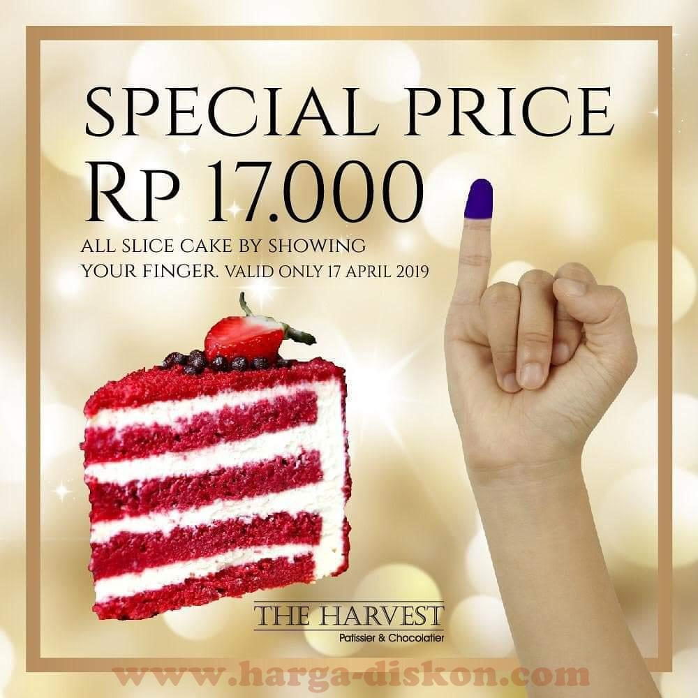 Promo The Harvest Special Price Slice Cake Rp17000 Periode