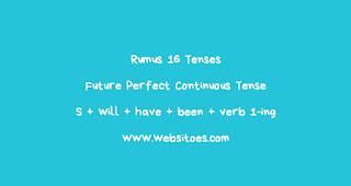 Rumus Future Perfect Continuous Tense