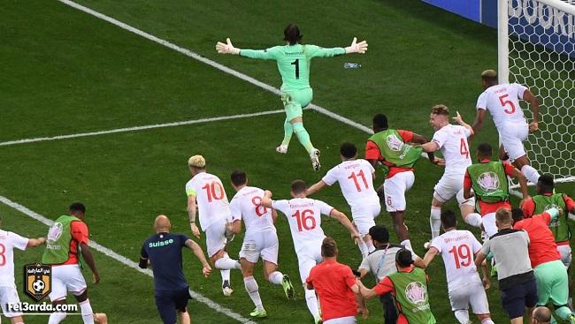 سويسرا تقصي فرنسا من دور الـ 16، وتواجه إسبانيا فى ربع نهائي يورو 2020