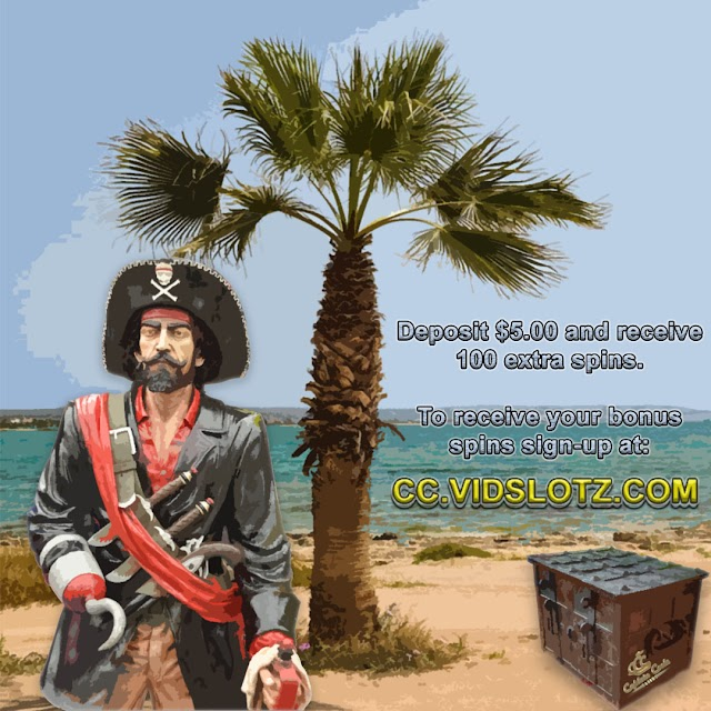 Receive 100 Bonus Spins on Top of Your 5 Dollar Deposit at CC Casino