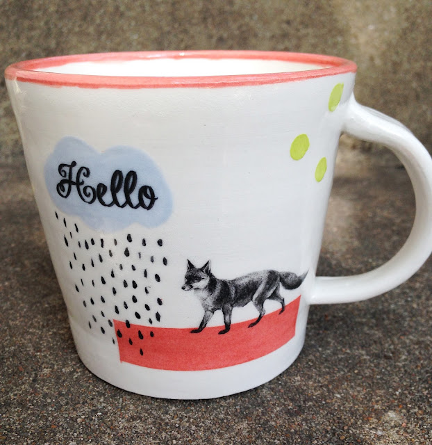 Hello Foxy Decal Mug