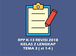 Download Gratis RPP Kelas 2 Tema 3 Kurikulum 2013 Revisi 2018