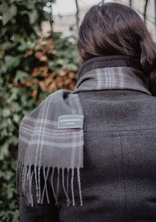 The Tartan Blanket Co. - Scottish Made Lambswool Scarf in Persevere Flint Grey Tartan