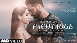 Pachtaoge ft.  Arijit Singh Full HD Video
