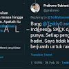 Komentari Sandiaga Dan Sindir Kasus 98, Pendukung Joko Widodo Ditegur Prabowo Subianto