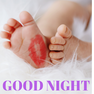 Good night massage with cute baby picture