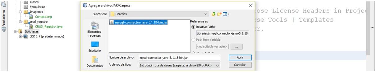 CRUD en Java Configuración del proyecto