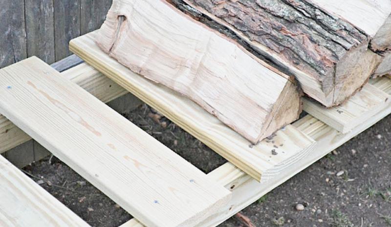 logs on log holder