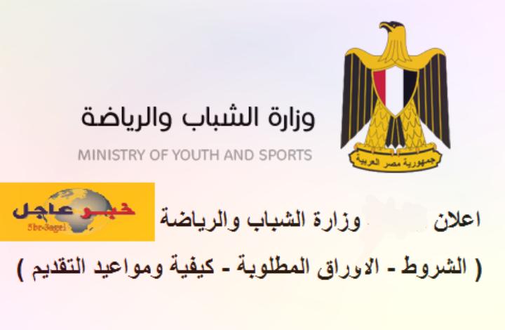 علان وزارة الشباب والرياضة للشباب الخريجين والطلبة بالمحافظات بمزايا عديدة اضغط هنا