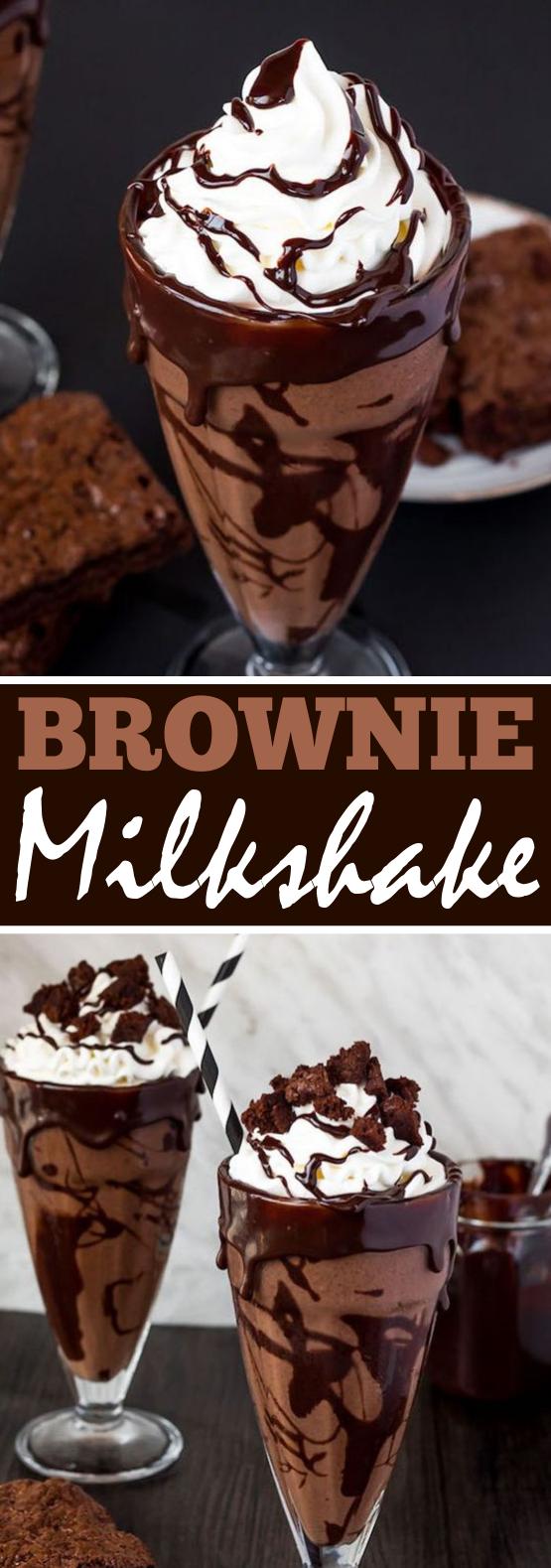 Brownie Milkshake #drinks #milkshake #chocolate #desserts #beverages