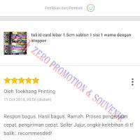 Testimoni Pembelian Tali id card 1.5cm