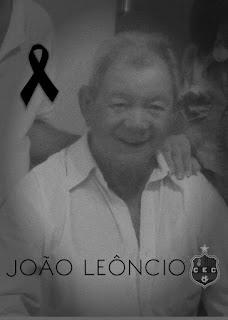 A diretoria do  Confiança Esporte Clube  lamenta morte do ex vice-prefeito sapeense João Leôncio