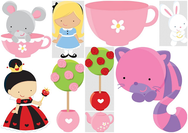 Alice in Wonderland for Babies Clipart.