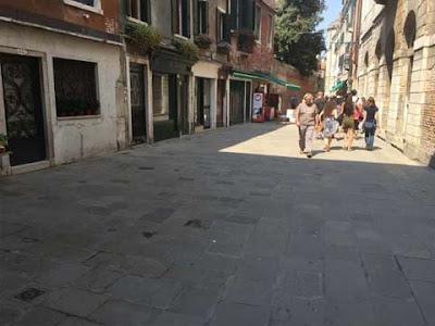 Barbaria de le Tole a Venezia dove sorgeva il banchetto dei ghiaccioli