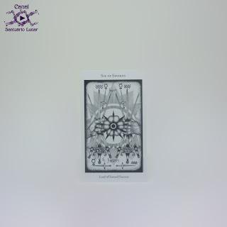The Hermetic Tarot - 6 of Swords