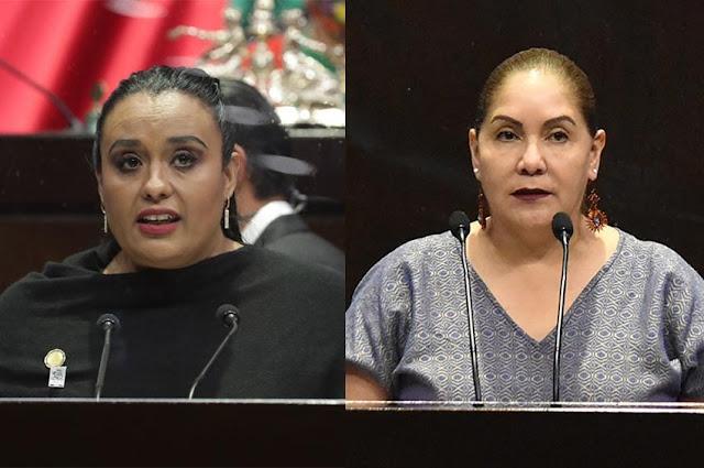 diputadas María Beatriz López Chávez y Claudia Tello Espinosa