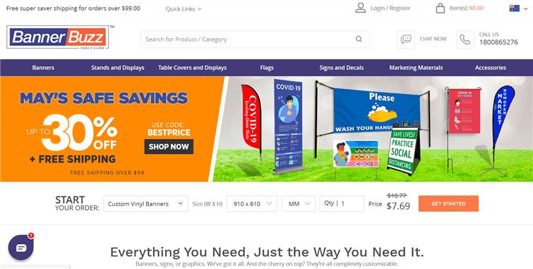 オーストラリアのバナー屋さん「Banner Buzz」オンライン通販画像