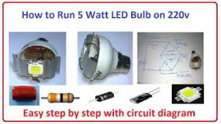 How to run 12v 5w led on 220v