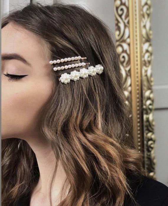 broches para el cabello con perlas