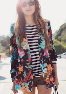 floral stripes combo