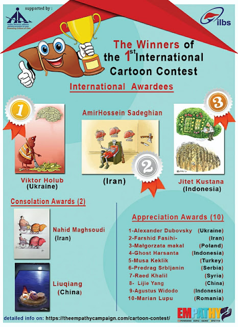 The Winners of the 1st International Cartoon Contest on Liver Health Awareness, India