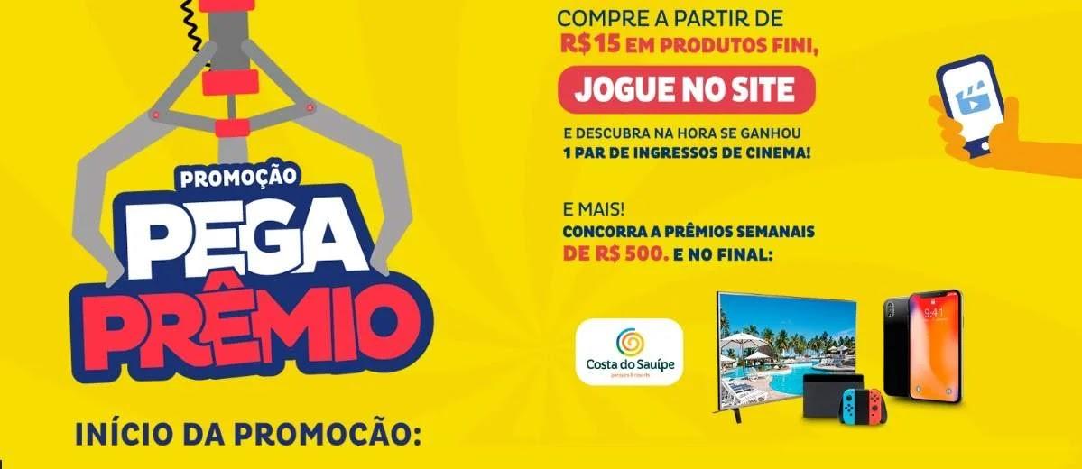 Promoção Balas Fini 2020 Ganhe Ingressos Cinema Pega Prêmio - Viagem Kit e Celular