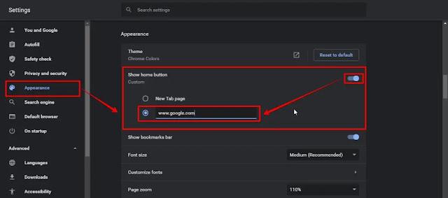 طريقة تعيين محرك بحث جوجل كصفحتك الرئيسية في أي متصفح ويب