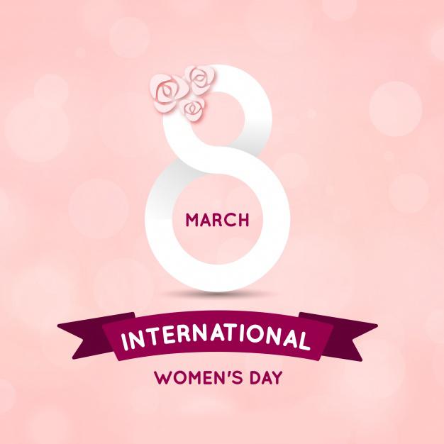 Hand drawn international women's day background Free Vector