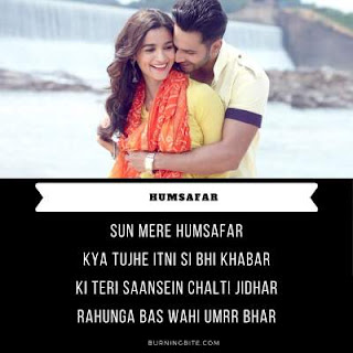 Lyrics Of Humsafar