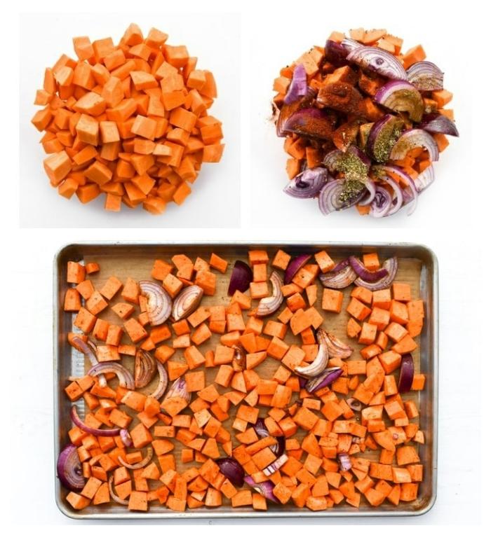 Sweet Potato Couscous - Step 1 - roasting sweet poatoes