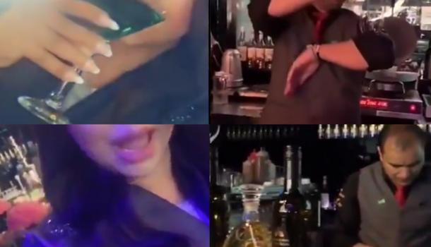 """""""شاهد"""" ممثلة سعودية شهيرة تفجر موجة غضب واسعة من داخل """"بار حلال"""" جديد في الرياض"""