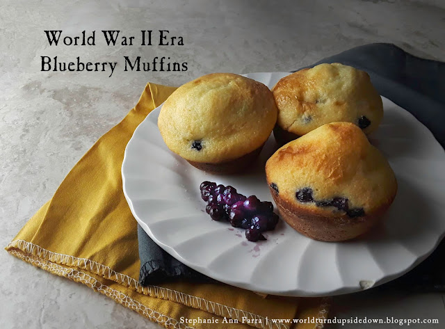 1940s WWII World War Two Recipe Blueberry Muffin