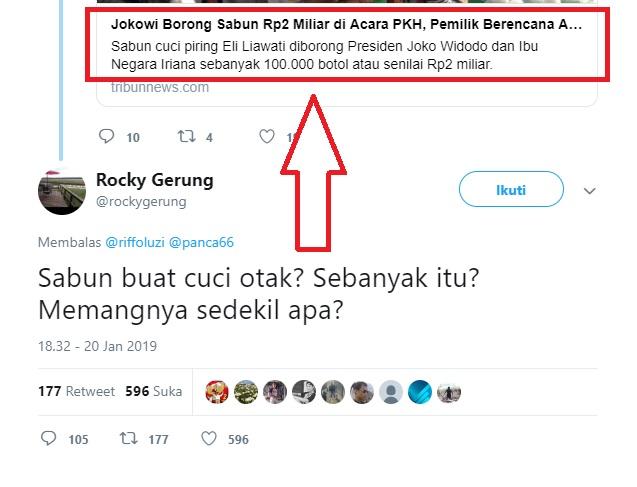 Jokowi Borong Sabun 2 Miliar, Rocky Gerung Tulis Komentar 'Nyelekit'