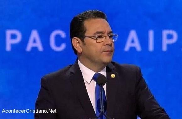 Presidente de Guatemala Jimmy Morales