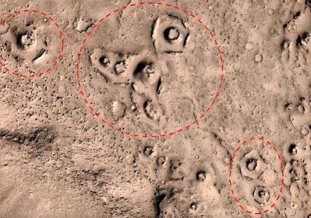 Древние инопланетные руины нашли на Марсе на спутниковых снимках MRO