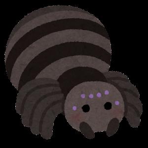 クモのキャラクター(黒)