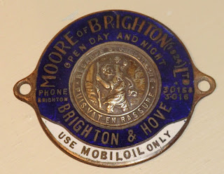 Moores of Brighton enamel St Christophers badge