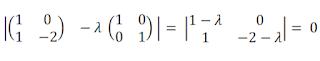 Cálculo de polinomio característico de matriz de 2x2