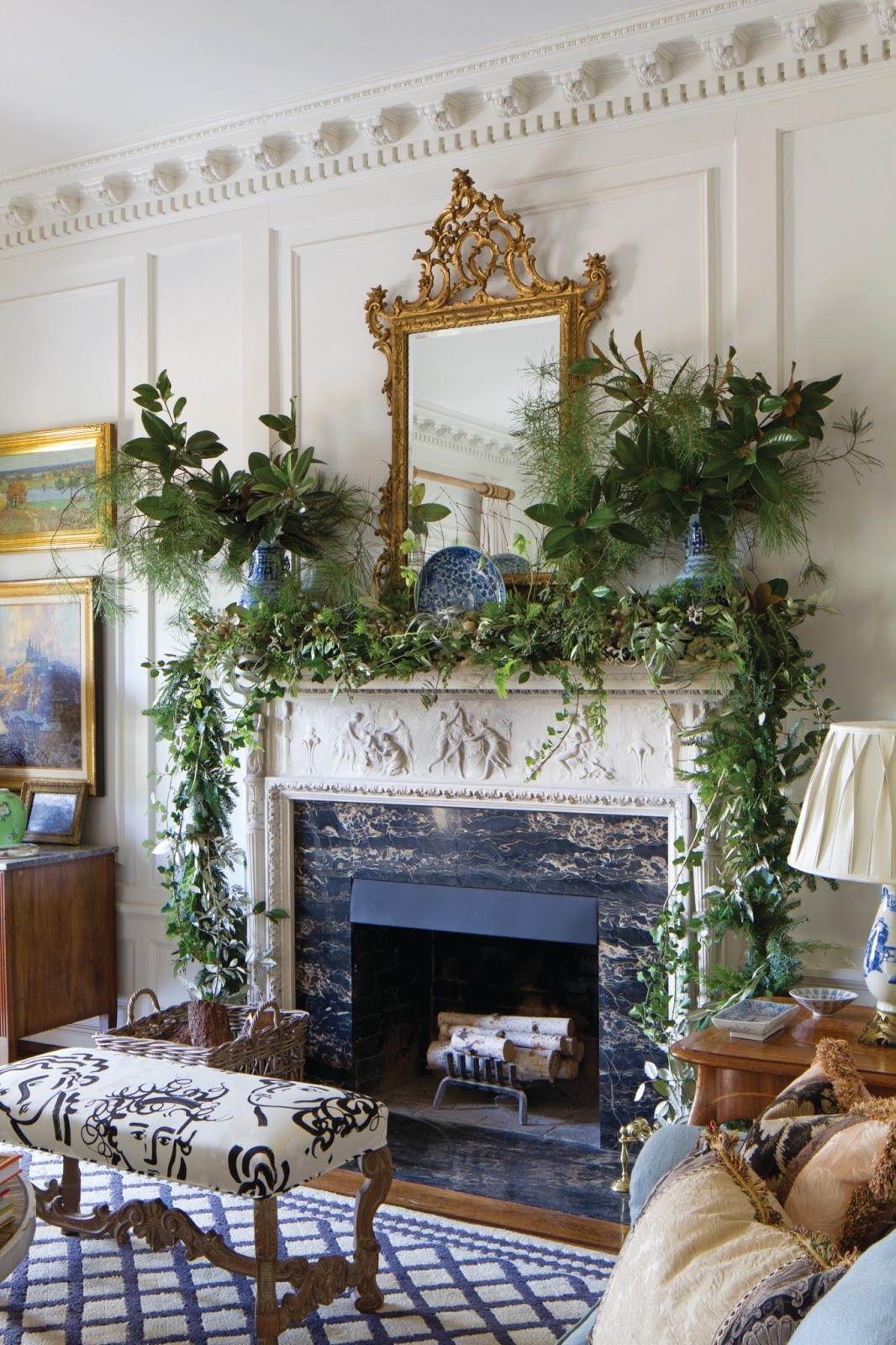 Xmas Decoration Ideas For Living Room: Splendid Sass: SOUTHERN HOME MAGAZINE: CHRISTMAS ISSUE