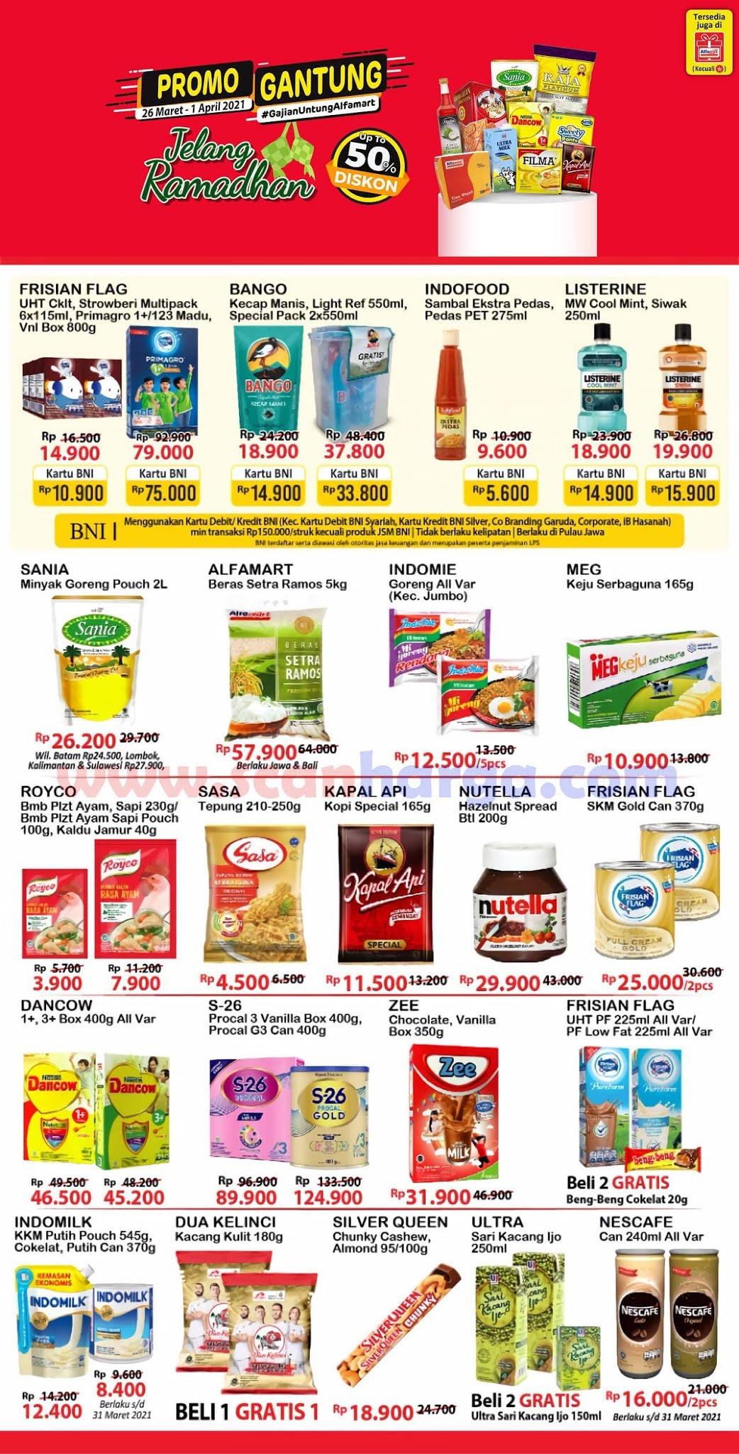 Katalog Promo Alfamart Gajian Untung (Gantung) 26 Maret - 1 April 2021 2