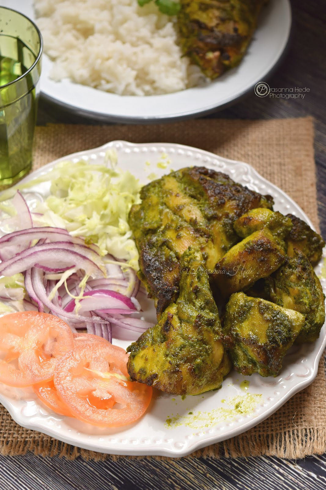 Hariyali Chicken (Oven Grilled)